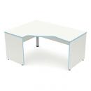 stůl psací rohový - pevné boky