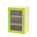 skříň horní 1-dveřová závěsná prosklená, 45 cm