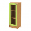 skříň střední 40 cm - 1-dveřová prosklená v rámu L/P