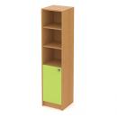 skříň vysoká 40 cm - 1-dveřová + 3 niky L/P