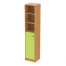 skříň maxi 40 cm - 1-dveřová + 3 niky L/P