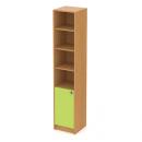 skříň maxi 40 cm - 1-dveřová + 4 niky L/P