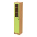 skříň maxi 40 cm - 2-dveřová (1 sklo v rámu) L/P