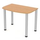 stůl se zaoblenou deskou - kulaté nohy - 80 cm