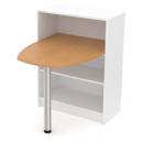 stůl se zaoblenou deskou (do skříně) - kulatá noha