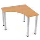 stůl rohový - kulaté nohy - 100 x 100 - hloubka desky 45 cm