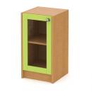 skříň nízká 40 cm - 1-dveřová prosklená v rámu L/P