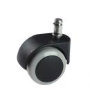 kolečko s gumovou obručí - náhradní díl - 10 mm čep - bez brzdy