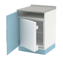 skříň dolní 1-dveřová, vestavná lednice, 60 cm