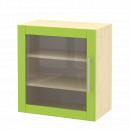 skříň horní 1-dveřová závěsná prosklená, 60 cm