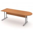 Stůl pracovní s jednací deskou - kovová podnož