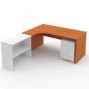 Stůl psací rohový 180 cm plné boky