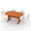Stůl jednací oválný 170 cm podnož LUX