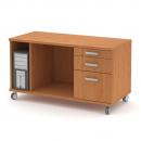 Box pojízdný - PC, tiskárna, 2zásuvky, kartotéka