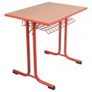 Jednomístná školní lavice EDUCAL - kruhový profil