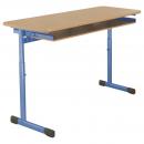 Dvoumístná školní lavice EDUCAL - profil plochoovál