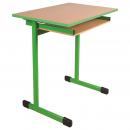 Jednomístná školní lavice EDUCAL - profil plochoovál