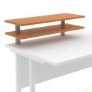 Nástavec psacího stolu otevřený - 2 řady