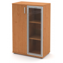 Skříń střední 1-dveřová + alurám a sklo
