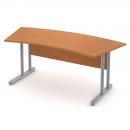 Stůl pracovní zaoblený - kovová podnož