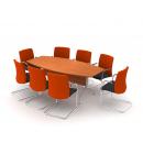 Stůl jednací oválný - kovová podnož