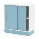 skříň nízká s posuvnými dveřmi
