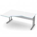 stůl psací rohový P/L - kovové podnože